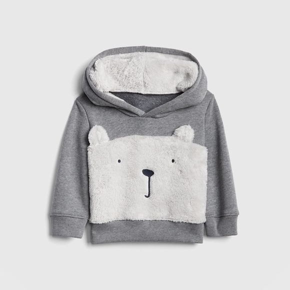 GAP Other - Sherpa Bear Hoodie Sweatshirt